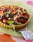 Grilled vegetable greedy tart
