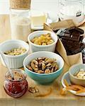 Produits assortis de la larder pour pâtisseries