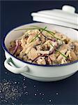 Dish of mushroom Risotto