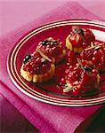 Biscuits sablés petit polenta avec fruits d'été