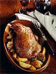 Shoulder of lamb with garlic and patatoes
