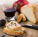 Foie gras on a slice of bread