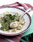 Ravioles de Royans salade tiède