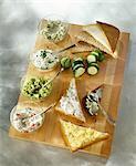 Verbreitung der Beilagen auf die Sandwich-Brot