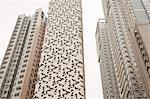 Modernes gratte-ciels, île de Hong Kong, Hong Kong, Chine