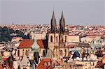 Tyn Church, Old Town, Prague, Bohemia, Czech Republic
