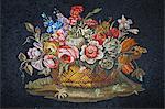 Ceramic Tile Mosaic, Vatican Museum, Vatican City, Rome, Italy