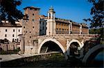 Ponte Cestio and Isola Tibernia, Rome, Italy
