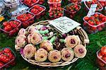 Artichokes, Tomatoes and Peppers in Market, Campo de Fiori, Rome, Italy