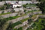 Jardin maraîcher, Positano, côte amalfitaine, Province de Salerne, en Campanie, Italie