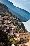 Vue de Positano sur la côte amalfitaine, Campanie, Italie