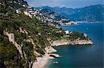 Vue d'Amalfi Coast, Campania, Italie