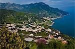 Vue incomparable de Ravello, Amalfi Coast, Campania, Italie