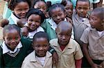 Full frame shot of group of schoolchildren, KwaZulu Natal Province, South Africa