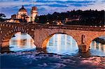 Ponte Pietra, Verona, Veneto, Italy