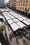 Marché à la Piazza Delle Erbe, Padoue, Vénétie, Italie