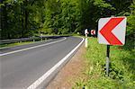 Road in Springtime, Oberbessenbach, Spessart, Bavaria, Germany