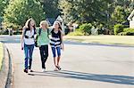 Group of Friends Walking to School