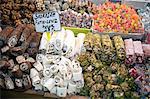 Bonbons turcs au marché aux épices, Istanbul, Turquie