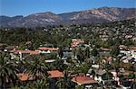 View of Santa Barbara Hills, Santa Barbara, California, USA
