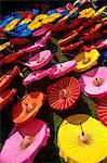 Thaïlande, Chiang Mai, Borsang Village de parapluie, parapluies