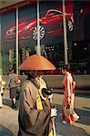 Japan,Honshu,Tokyo,Monk Walking on The Ginza