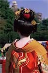 Japan,Tokyo,Geishas at Jidai Matsuri Festival held Annually in November at Sensoji Temple Asakusa