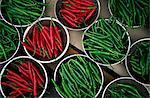 Corée, Séoul, Namdaemun vendent, affichage de piment