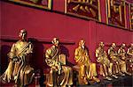 China,Hong Kong,New Territories,Sha Tin,Buddha Statues in theTen Thousand Buddha Monastery,This monastery has over 12,800 Buddha Statues,