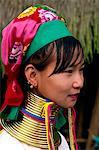 Thailand,Golden Triangle,Chiang Rai,Long Neck Karen Hilltribe,Long Neck Woman