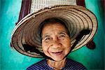 Vietnam, Hoi An, Portrait de femme âgée