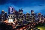 Night view of skyscrapers along Jalan Jend Sudirman-Senayan, Jakarta
