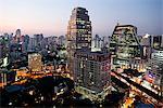 Thailand,Bangkok,Silom Area Skyline