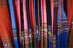 Vietnam, Hoi An, affichage de tissu soie boutique