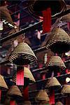 Encens serpentins suspendus Man Mo Temple, Hong Kong