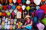 Vietnam, Hoi An, magasin de lanterne de papier