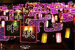 Lanterne et lumière d'affichage lors de la fête des lanternes