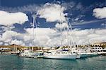Yachts dans la marina de Puerto Calero, Lanzarote