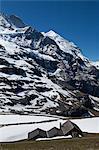 Kleine Scheidegg, région de la Jungfrau, Alpes bernoises, Suisse