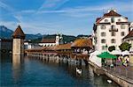 Chapel Bridge and Wasserturm, Lucerne, Switzerland