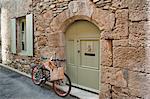 Bicycle in Medieval Village, Caunes-Minervois, Aude, Languedoc-Roussillon, France