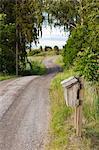 Kleine Straßen auf dem Land