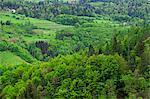 Luftbild von Landschaft, Slowenien