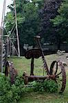 alte verrostete Traktor