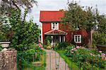 Maison en bois rouge, Phaku, Smaland, Suède