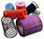 Various types of hair curlers