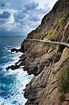 Passerelle, Riomaggiore, Cinque Terre, Province de La Spezia, côte ligure, Italie