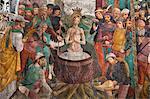 Martyre de Saint Margaret Fresco, chapelle de Saint Margaret, Sacro Monte di Crea, Serralunga di Crea, Province d'Alessandria, Piémont, Italie