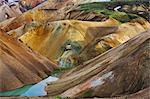 Montagnes et piscine, Landmannalaugar, Islande