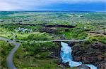 Barnafossar Waterfall, near Hraunfossar, Iceland